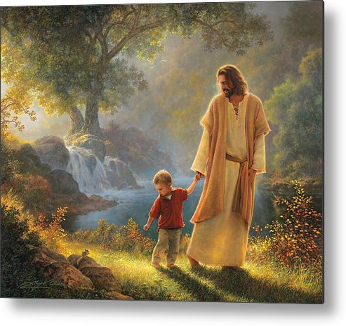 Jesus Metal Print featuring the painting Take My Hand by Greg Olsen