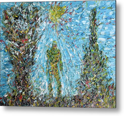 Man Metal Print featuring the painting The Drama Of The Earth by Fabrizio Cassetta