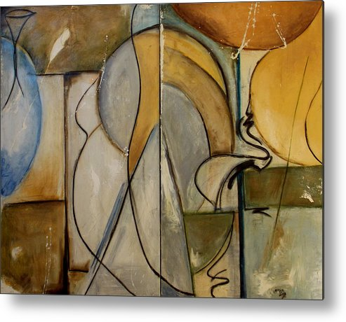Paintings Metal Print featuring the painting To Louise by Lynn Hughes