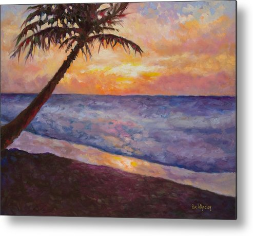 Beach Metal Print featuring the painting Tropical Interlude by Eve Wheeler