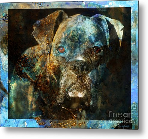 Dog Metal Print featuring the digital art True Colours by Judy Wood