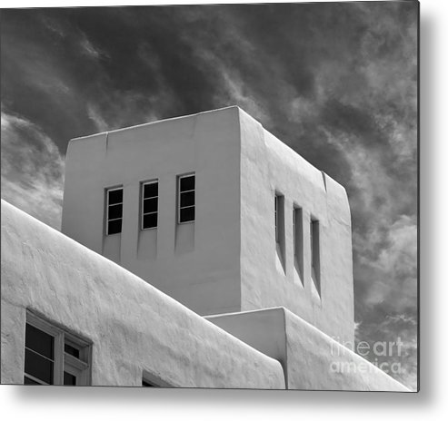Albuquerque Metal Print featuring the photograph University Of New Mexico Mesa Vista Hall by University Icons