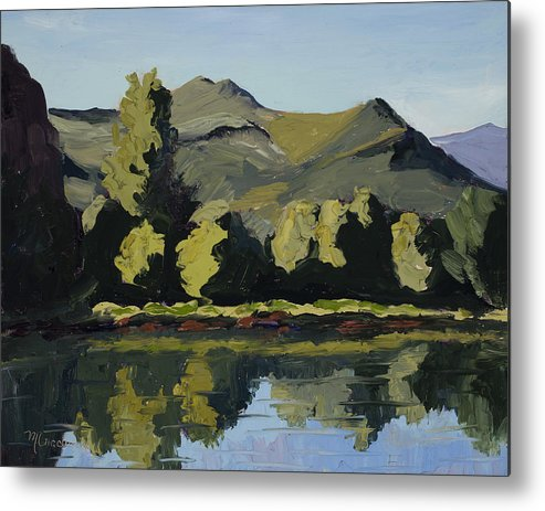 Plein Air Metal Print featuring the painting Watson Lake by Mary Giacomini