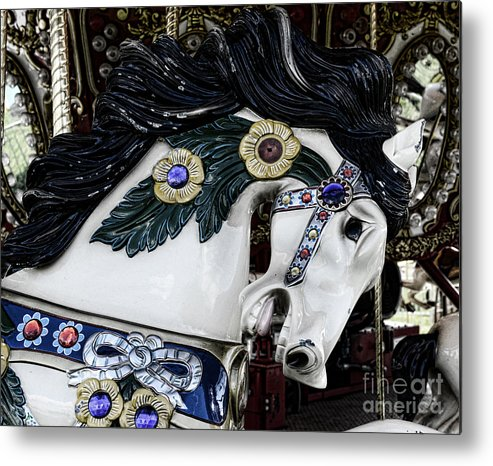 Carousel Metal Print featuring the photograph Carousel Horse - 9 by Paul Ward