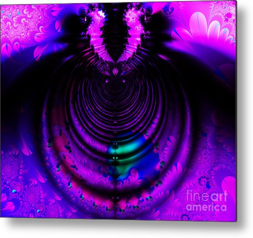 Fractal Metal Print featuring the digital art Melting Pot . Horizontal Cut . S8a.s11 by Wingsdomain Art and Photography