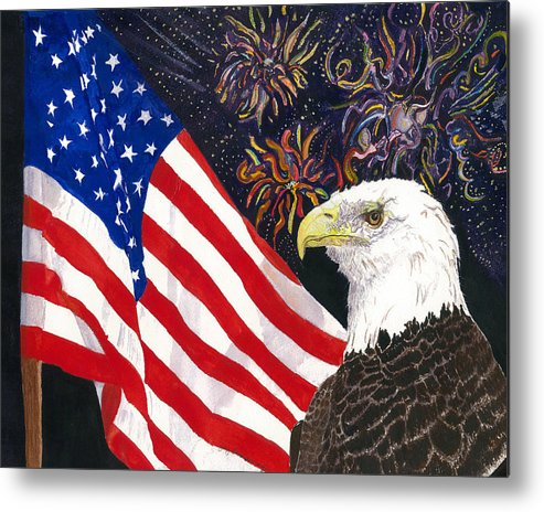 Freedom Metal Print featuring the painting Still Free by Joy Braverman