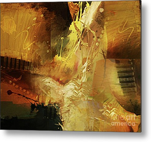 Abstract Metal Print featuring the painting Untitled by Angelina Cornidez