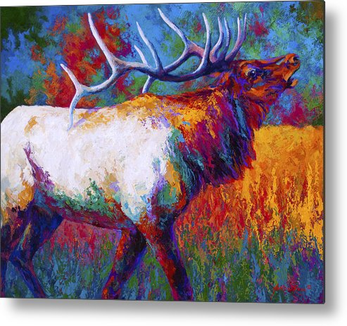 Elk Metal Print featuring the painting Autumn by Marion Rose