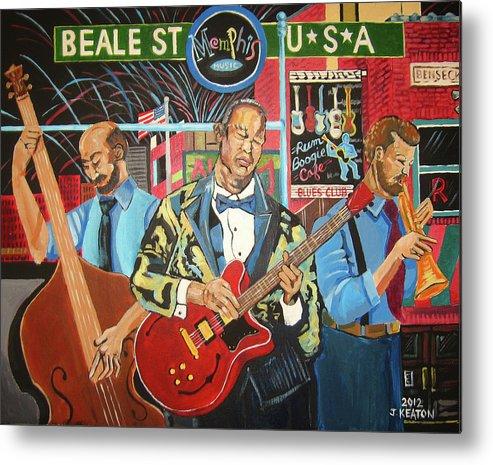Beale Street Metal Print featuring the painting Beale Street by John Keaton