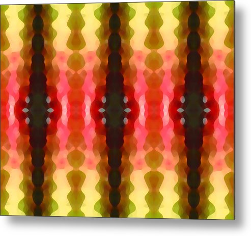 Abstract Metal Print featuring the painting Cactus Vibrations 2 by Amy Vangsgard