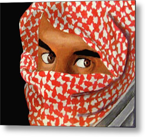 Iraqi Metal Print featuring the painting Jihadi by Darren Stein