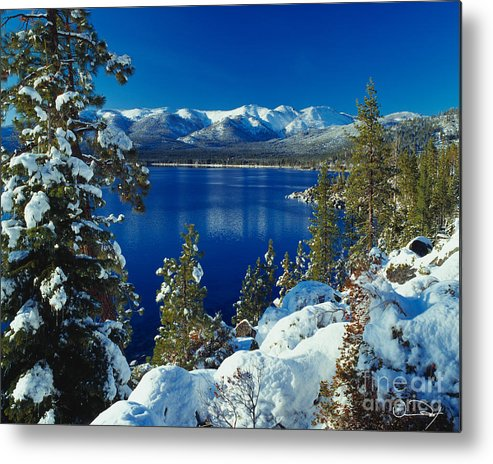Lake Tahoe Metal Print featuring the photograph Lake Tahoe Winter by Vance Fox