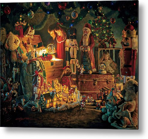 Santa Claus Metal Print featuring the painting Reason For The Season by Greg Olsen