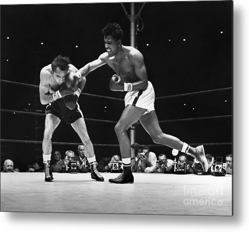 1957 Metal Print featuring the photograph Sugar Ray Robinson by Granger