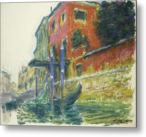 Claude Monet Metal Print featuring the painting The Red House by Claude Monet
