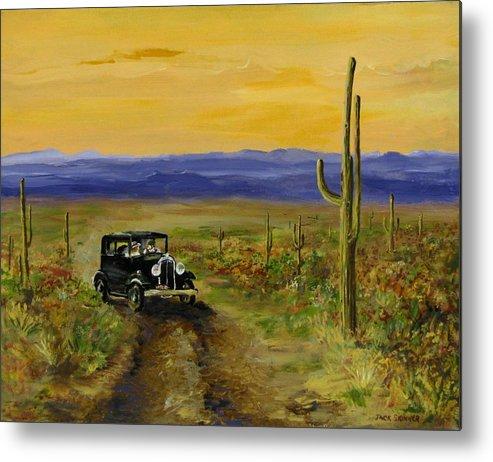 Desert Metal Print featuring the painting Touring Arizona by Jack Skinner