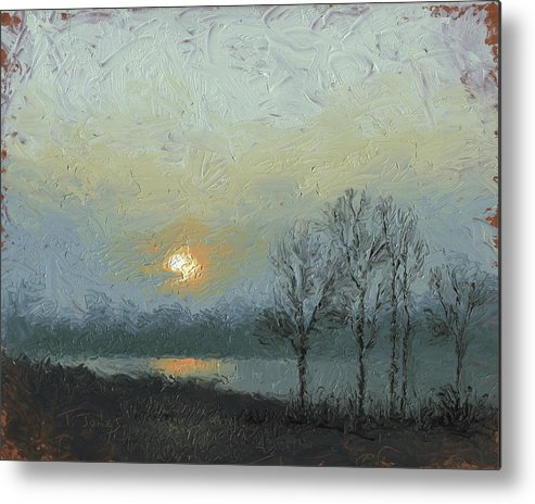 Arkansas Metal Print featuring the painting Winter Mist by Timothy Jones