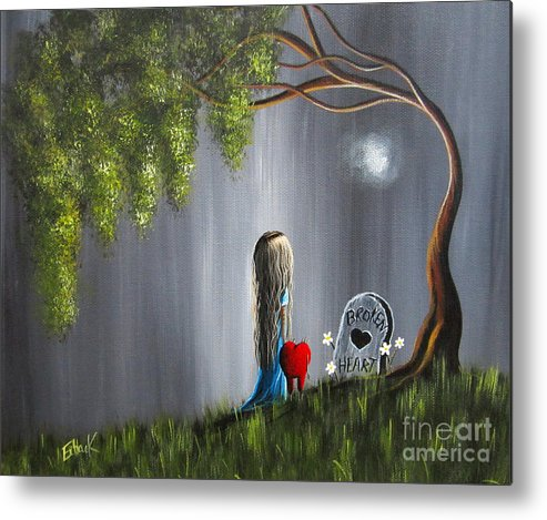 Lowbrow Metal Print featuring the painting Don't Worry I Won't Let That Happen To You By Shawna Erback by Shawna Erback