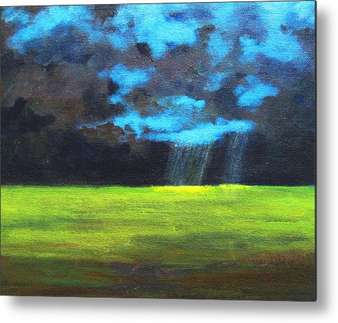 Poster Metal Print featuring the painting Open Field IIi by Patricia Awapara