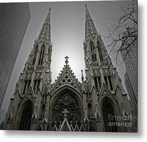 Cathedral Metal Print featuring the photograph St. Patricks Cathedral by Angela Wright
