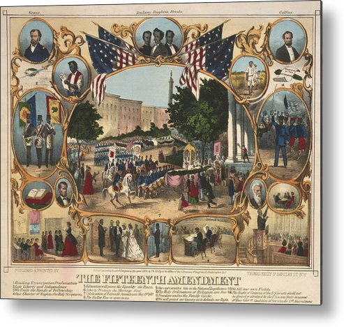 History Metal Print featuring the photograph 1870 Print Illustrating The Rights by Everett
