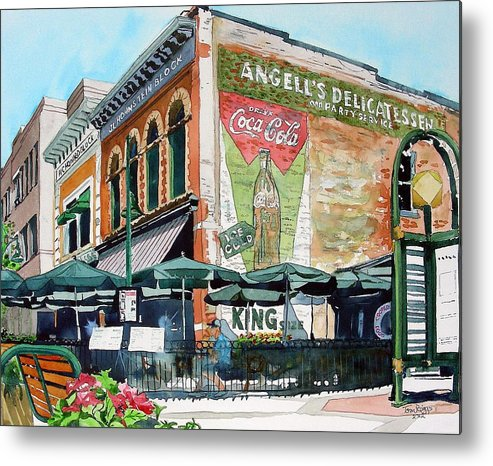 Watercolor Metal Print featuring the painting Coopersmith's Again by Tom Riggs