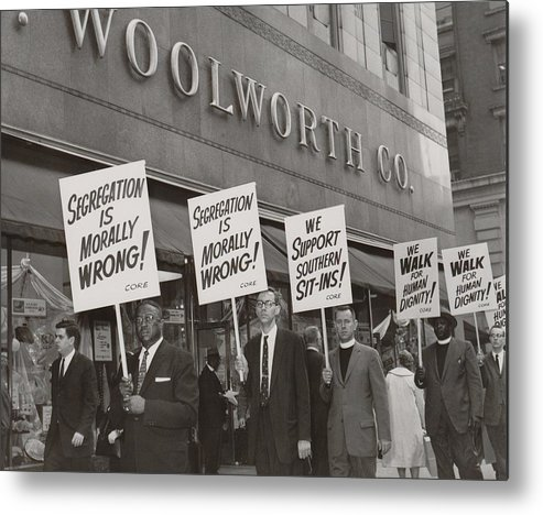History Metal Print featuring the photograph Ministers Picket F.w. Woolworth Store by Everett