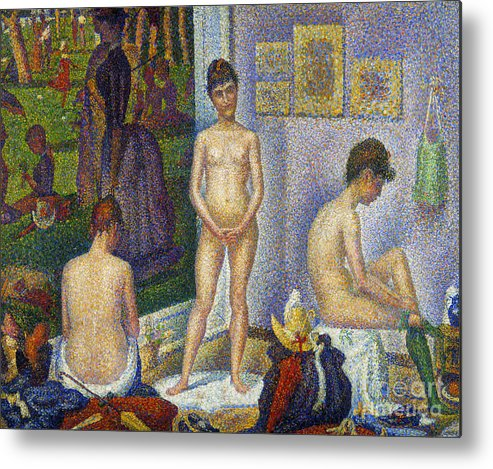 1866 Metal Print featuring the photograph Seurat: Models, C1866 by Granger