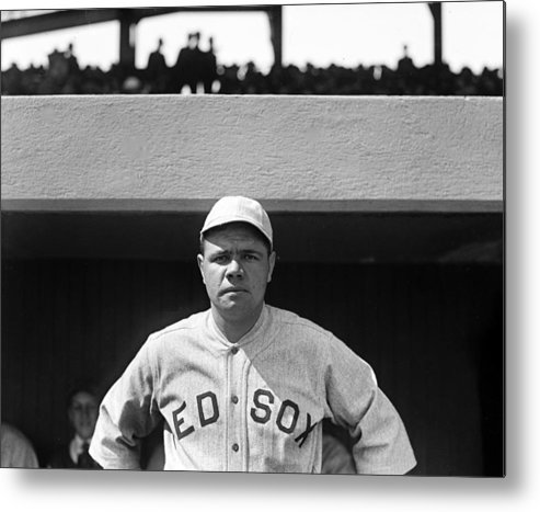 babe Ruth Metal Print featuring the photograph The Babe - Red Sox by International Images