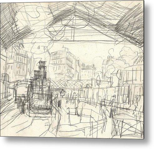 La Gare Saint Lazare Metal Print by Claude Monet