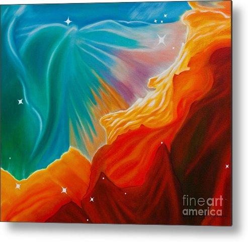 Nebula Metal Print featuring the painting Swan Nebula by Barbara McMahon