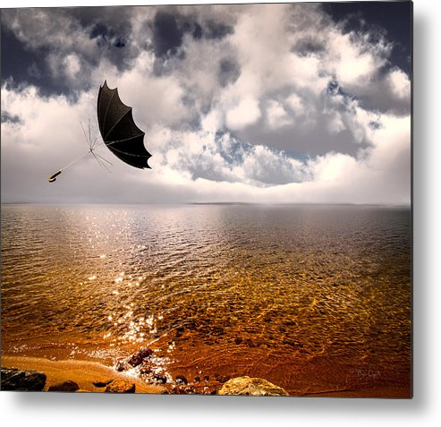 Umbrella Metal Print featuring the photograph Windy by Bob Orsillo
