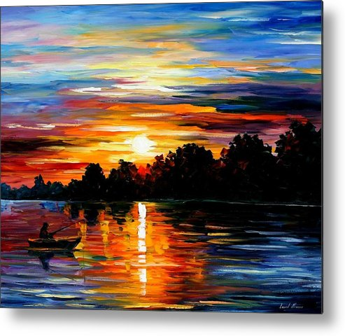 Afremov Metal Print featuring the painting Life Memories by Leonid Afremov