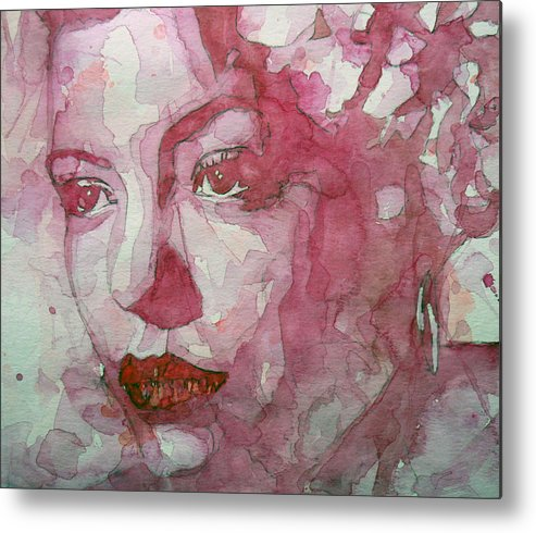 Billie Holiday Metal Print featuring the painting All Of Me by Paul Lovering