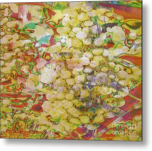 Grapes Metal Print featuring the painting Grape Abundance by PainterArtist FIN
