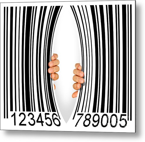 Addiction Metal Print featuring the photograph Torn Bar Code by Carlos Caetano