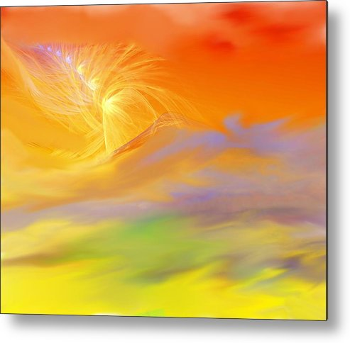 Fine Art Metal Print featuring the digital art A Band Of Angels Coming After Me by David Lane