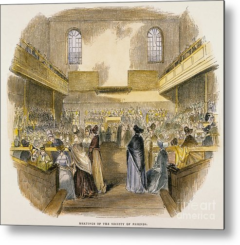 1843 Metal Print featuring the photograph Quaker Meeting, 1843 by Granger