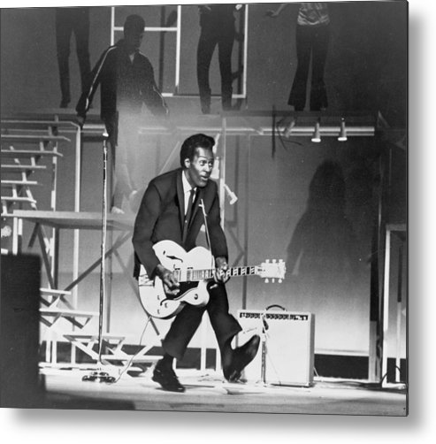 History Metal Print featuring the photograph Chuck Berry B. 1926 On Stage, Playing by Everett