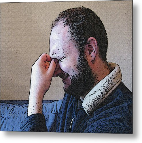 Depression Metal Print featuring the mixed media Depression by Darren Stein