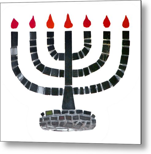 Menorah Metal Print featuring the photograph Seven-branched Temple Menorah by Christine Till