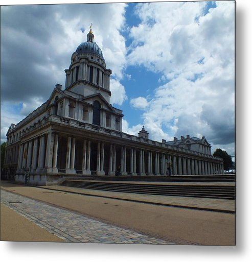 Lord Admiral Nelson Metal Print featuring the photograph The Chapel At The Royal Naval College by Anna Villarreal Garbis
