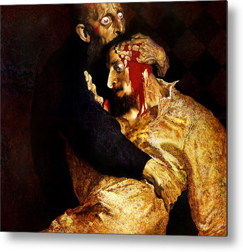 Man Metal Print featuring the painting Ivan by Valeriy Mavlo