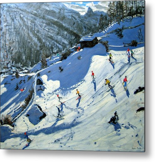 Alps Metal Print featuring the painting Matterhorn by Andrew Macara