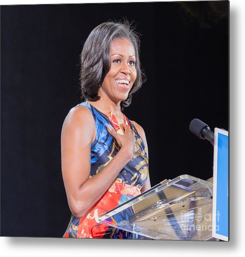 Michelle Obama Metal Print featuring the photograph Political Ralley by Ava Reaves