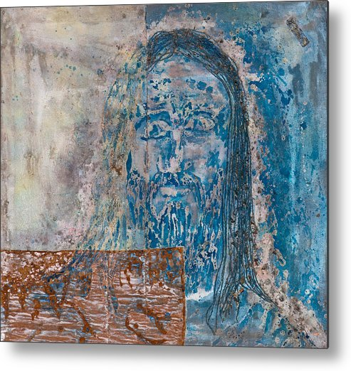 Art Metal Print featuring the painting See Me See My Father And The Spirit by Thomas Lentz
