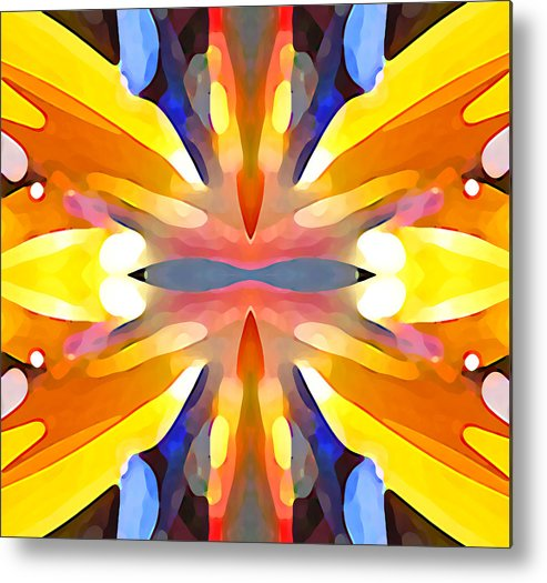 Abstract Art Metal Print featuring the painting Abstract Paradise by Amy Vangsgard