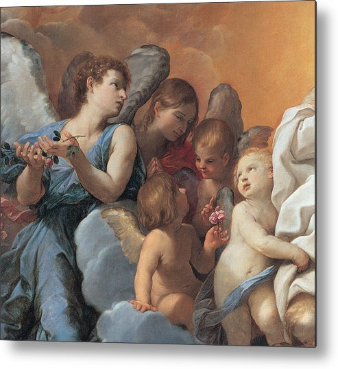 Guido Reni Prints Metal Print featuring the painting The Assumption Of The Virgin Mary by Guido Reni