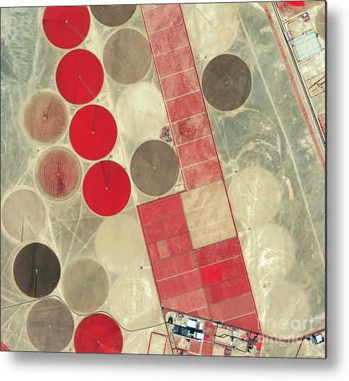 Africa Metal Print featuring the photograph Tadco Farm Saudi Arabia Satellite by GeoEye