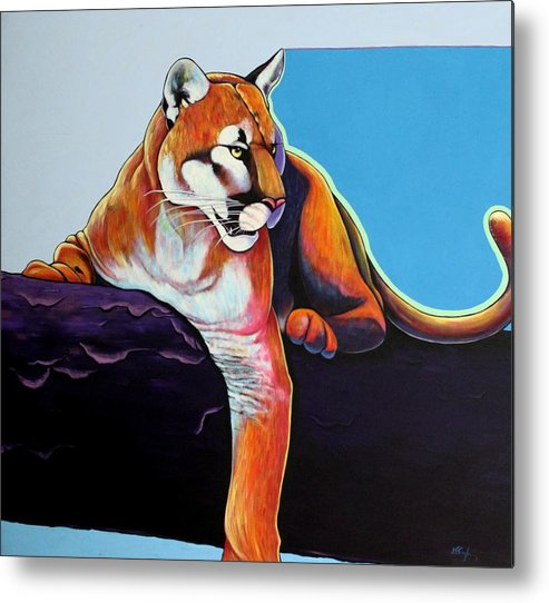Wildlife Metal Print featuring the painting The Toll Collector by Joe Triano